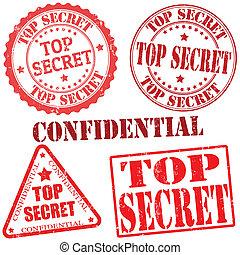 Top secret stamps - Top secret grunge stamp collection on...