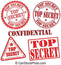 Top secret stamps - Top secret grunge stamp collection on...