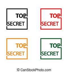 Top secret with thumb stock icon, flat design, vector illustration - Vector