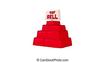 Top sell products icon animation best object on white background