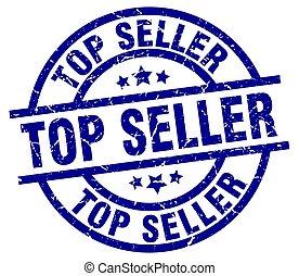top seller blue round grunge stamp