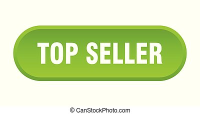 top seller button. top seller rounded green sign. top seller