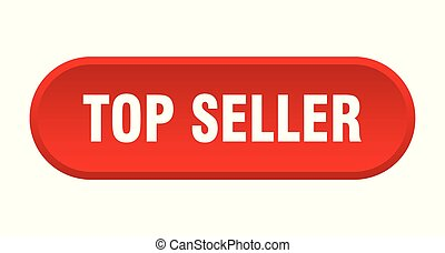 top seller button. top seller rounded red sign. top seller