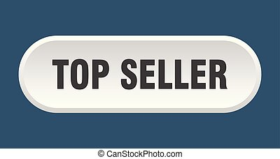top seller button. top seller rounded white sign. top seller