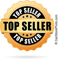 Top seller gold vector icon