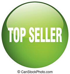 top seller green round gel isolated push button
