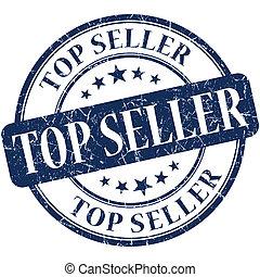 Top seller grunge round blue stamp