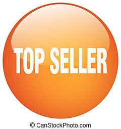 top seller orange round gel isolated push button