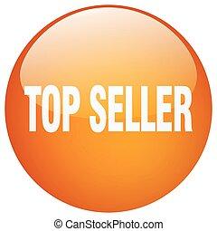 top seller orange round gel isolated push button