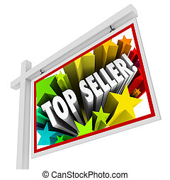 Top Seller Real Estate Sign Best Selling Agency Agent Salesperso