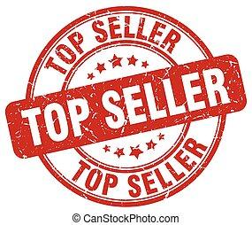 top seller red grunge round vintage rubber stamp