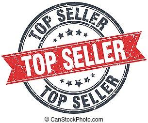 top seller red round grunge vintage ribbon stamp