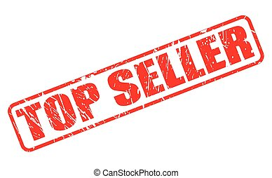 Top seller red stamp text