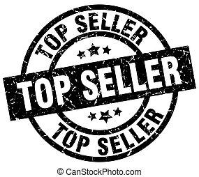 top seller round grunge black stamp