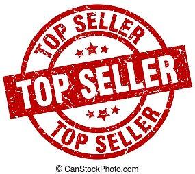 top seller round red grunge stamp