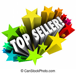 Top Seller Sales Person Stars Best Employee Worker Results -...