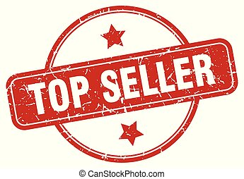 top seller sign - top seller vintage round isolated stamp