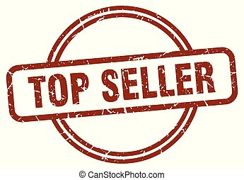 top seller stamp isolated on white