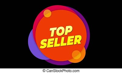Top Seller Text Sticker Colorful Sale Popup Animation. - Top...
