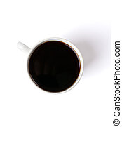 top shot of coffee cup