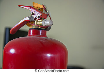 Top Side of Fire Extinguisher.