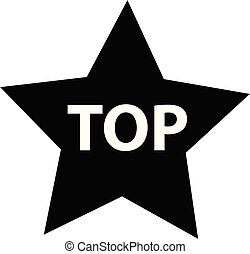 top star on white background. flat style. black star icon for your web site design, logo, app, UI. star shape sign.