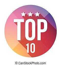 Top Ten button