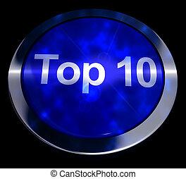 Top Ten Button Showing Best Rated 3d Rendering