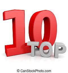 Top ten. Computer generated image.