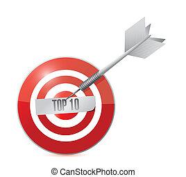 top ten target and dart illustration design