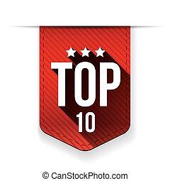 Top Ten vector ribbon