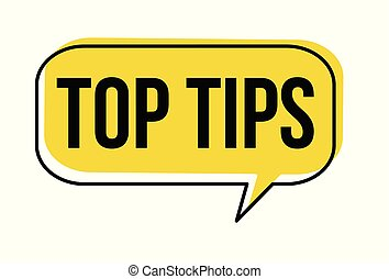 Top tips speech bubble