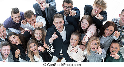 group of young business people celebrating their success - ...