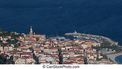 Top View Above The City Of Menton