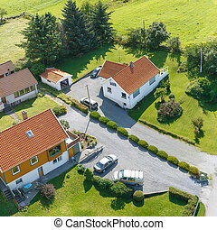 Top view at houses
