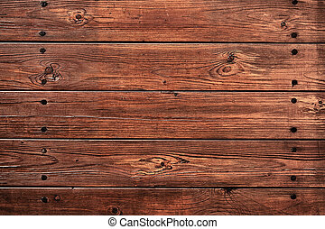 Top view background of old wooden boards with copy space
