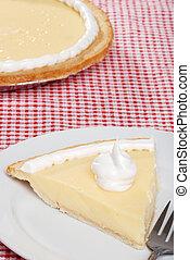 top view banana cream pie