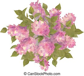 Top View Bouquet of Lilac