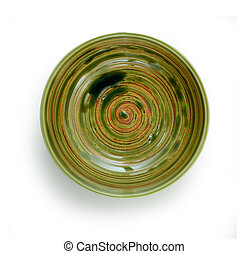 top view bowl on white background