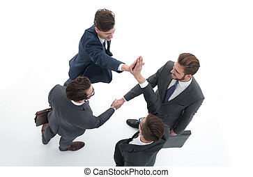 business partners giving a high five
