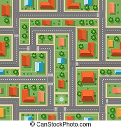 Top view  city seamless