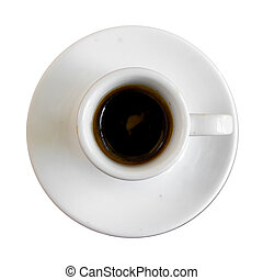 Top view , Cup of espresso coffee.
