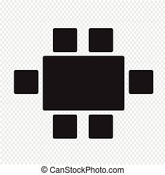 Top View Dinning Furniture Icon