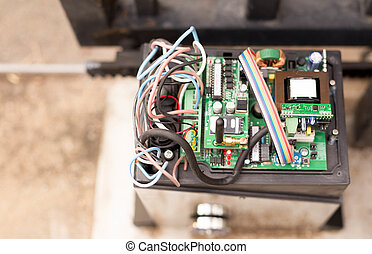 Top view Electronic Gate control system motor