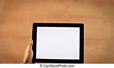 Top view female hands writing Y letter, coordinate system,equation on tablet
