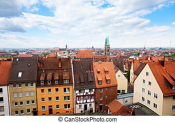 Top view from beautiful Kaiserburg, Nuremberg