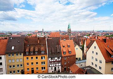 Top view from beautiful Kaiserburg, Nuremberg