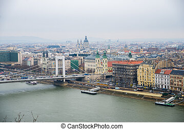 Elisabeth Bridge - top view from the Buda side of the...