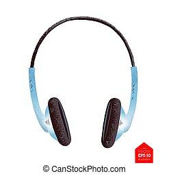 Top view illustration of headphones