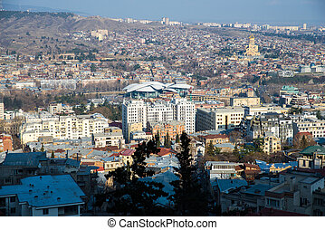 top view  in Tbilisi